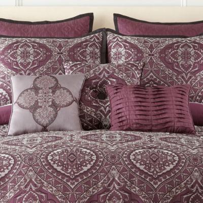 home expressions bristol 7pc comforter set - Purple Comforters