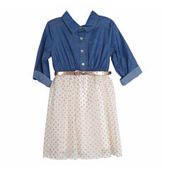 Lilt 3/4 Sleeve Tutu Dress - Preschool Girls