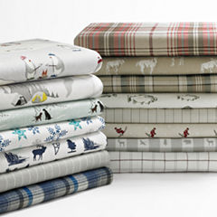 Eddie Bauer® School of Fish Easy Care Flannel Sheet Set