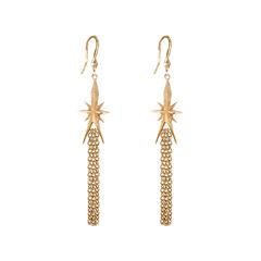 dom by dominique cohen Gold-Tone Star & Tassel Earrings