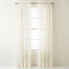 Liz Claiborne® Lisette Rod-Pocket Sheer Panel