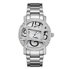 JBW Olympia Womens 1/5 CT. T.W. Diamond Stainless Steel Bracelet Watch