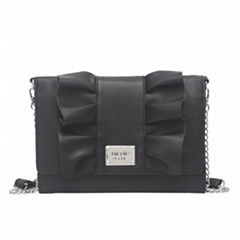 Nicole By Nicole Miller Lizzy Ruffle Crossbody Bag