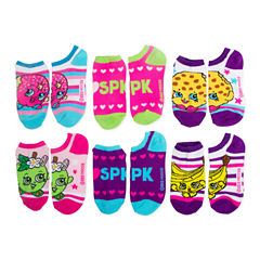 Girls 6 Pair Descendants No Show Socks