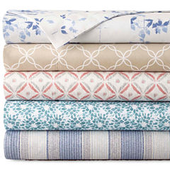 JCPenney Home™ 300tc 100% Cotton Ultra Soft Print Sheet Sets and Pillowcases