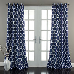 Lush Decor Chainlink Room Darkening Curtain Panel