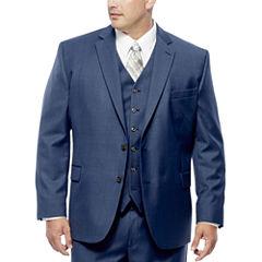 Stafford Travel Wool Blend Stretch Jacket-Portly Fit