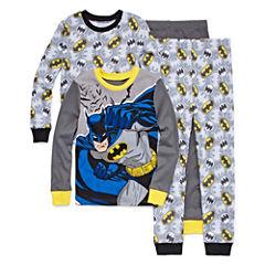 Batman 4 PC Pajama Set - Boys