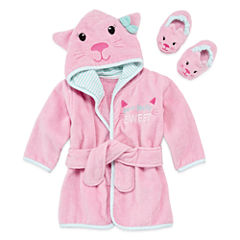 Okie Dokie Hooded Robe And Slippers