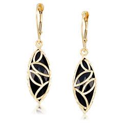 Black Onyx 10K Gold Drop Earrings