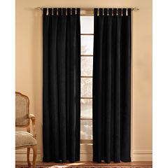 Microsuede Tab-Top Curtain Panel