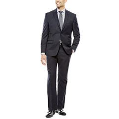 Collection by Michael Strahan Black Herringbone Suit-Classic Fit