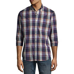 U.S. Polo Assn. Long Sleeve Plaid Button-Front Shirt