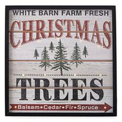 North Pole Trading Co. Winter Lodge LED Tree Farm Wall Sign
