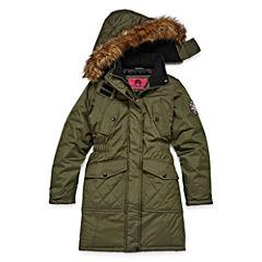 Weatherproof Heavyweight Pattern Puffer Jacket - Girls-Big Kid