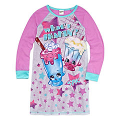 Shopkins Short Sleeve Nightgown-Big Kid Girls