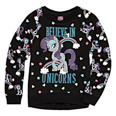 Crew Neck Long Sleeve My Little Pony Blouse - Big Kid Girls