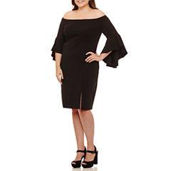 Bailey Girl Long Sleeve Party Dress-Juniors Plus