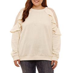 Arizona Ruffle Sweatshirt-Juniors Plus