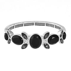 Liz Claiborne Womens Black Stretch Bracelet