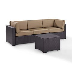 Biscayne 3-pc. Wicker Conversation Set - Loveseat, Corner and Coffee Table