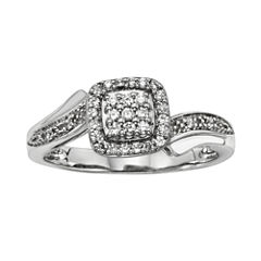 1/5 CT. T.W. Diamond Sterling Silver Promise Ring
