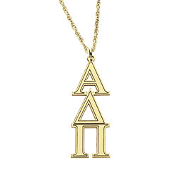 Personalized Gold Over Silver Greek Pendant Necklace