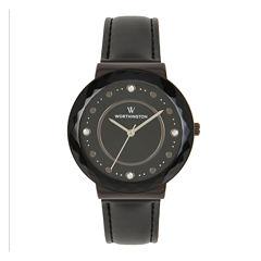 Worthington Womens Black Bracelet Watch-Wt00026-02