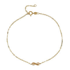 14K Yellow Gold Infnity Ankle Bracelet