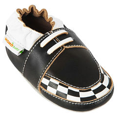 Momo Baby Soft Sole Leather Shoes - Checker Loafer