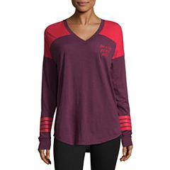 Flirtitude Long Sleeve Graphic T-Shirt- Juniors