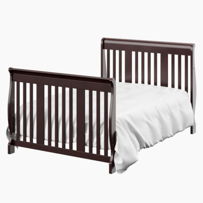 storkcraft portofino 4in1 crib and changer espresso