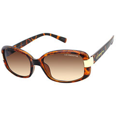 Liz Claiborne Full Frame Rectangular UV Protection Sunglasses-Womens