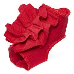 Okie Dokie Red Peep-Toe Socks Newborn-12Months