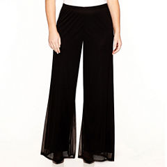 Prelude Wide-Leg Mesh Pants - Plus