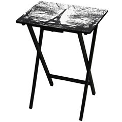Oriental Furniture Eiffel Tower TV Tray Table