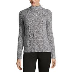 Liz Claiborne Long Sleeve Mock Neck Pullover Sweater