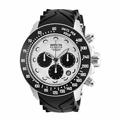 Invicta Mens Black Strap Watch-22136