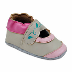 Soft Sole Leather Crib Bootie Baby Shoes - Contrast