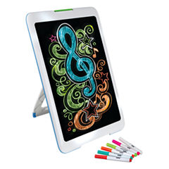 Discovery Kids Neon Glow Drawing Easel