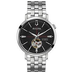 Bulova Mens Silver Tone Bracelet Watch-96a199