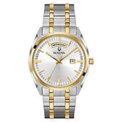 Bulova Mens Two Tone Bracelet Watch-98c127