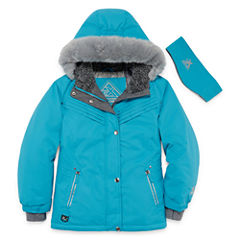 Zeroxposur Snowboard Girls Heavyweight Ski Jacket-Big Kid