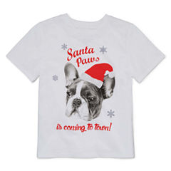 North Pole Trading Co. Long Sleeve Crew Neck T-Shirt-Toddler Girls