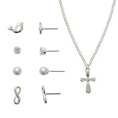 Sensitive Ears Womens 5-pc. Brass Jewelry Set