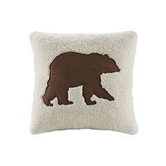 Woolrich Hadley Bear Square Decorative Pillow