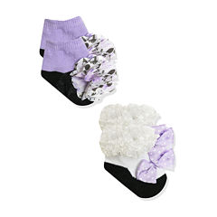 Baby Essentials® 2-pk. Frilly Socks Set - Baby Girls One Size
