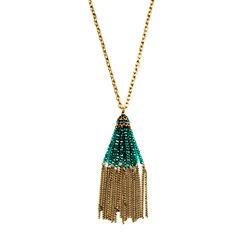 Bijoux Bar Womens Green Pendant Necklace