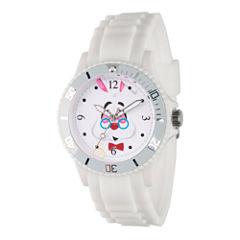 Disney Alice in Wonderland Womens White Strap Watch-Wds000363