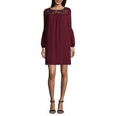 Luxology 3/4 Sleeve Shift Dress